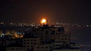 Israel Launches Attack On Gaza In Response To Rocket Fired From Gaza
